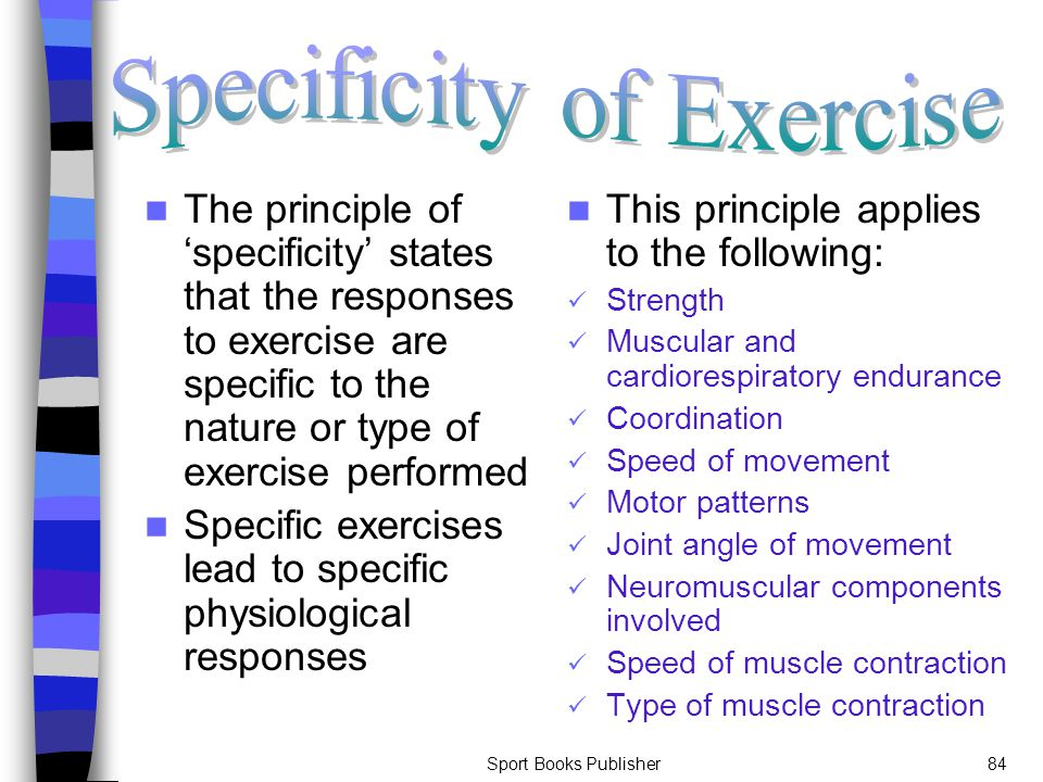 Specificity of Exercise