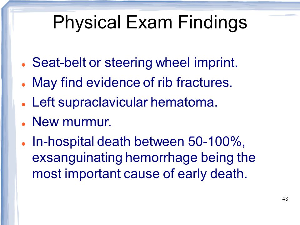 Physical Exam Findings