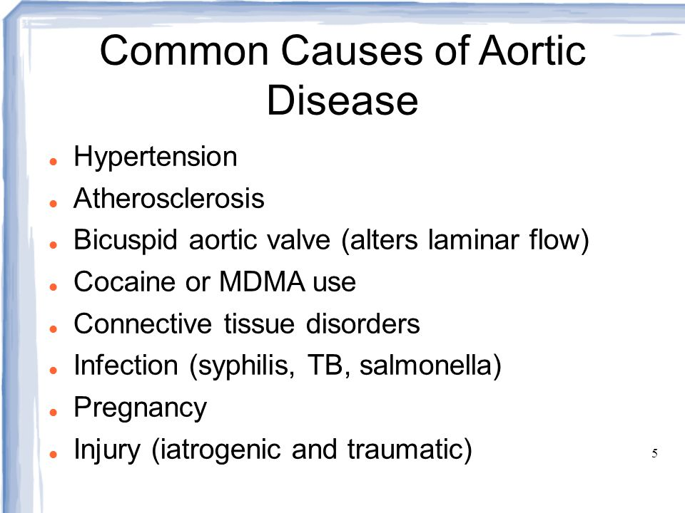 Common Causes of Aortic Disease