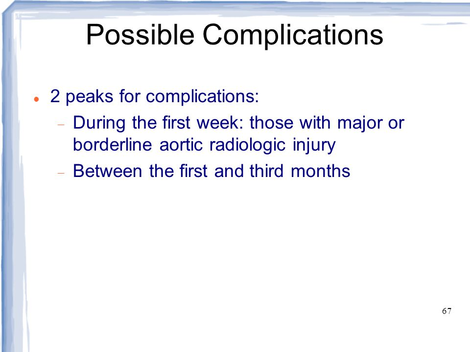 Possible Complications