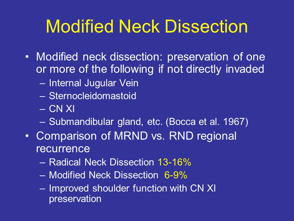 Modified Neck Dissection