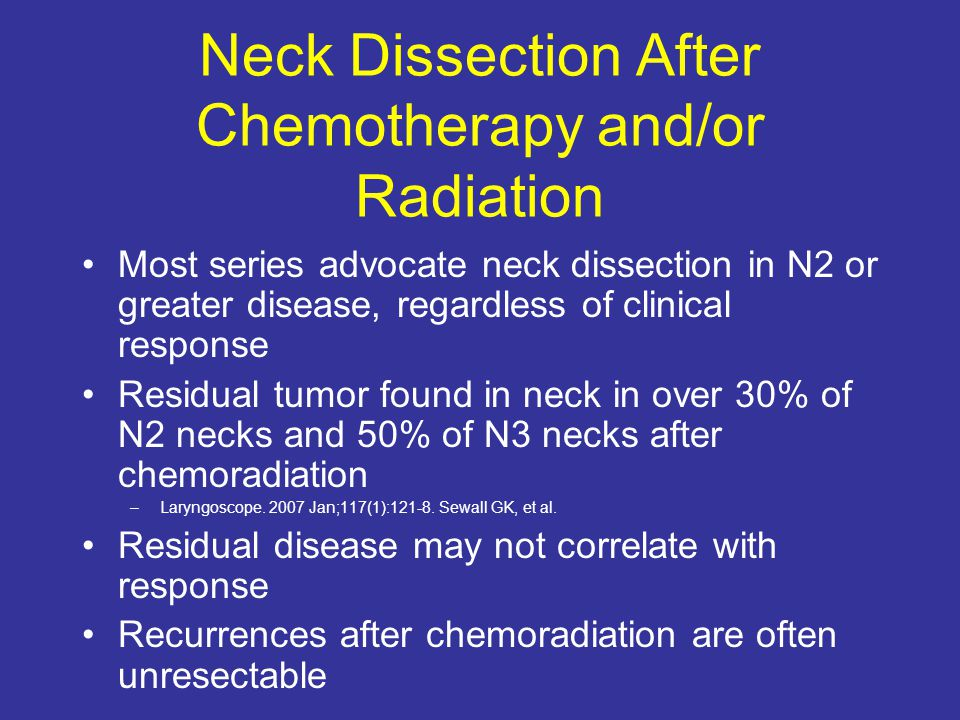 Neck Dissection After Chemotherapy and/or Radiation