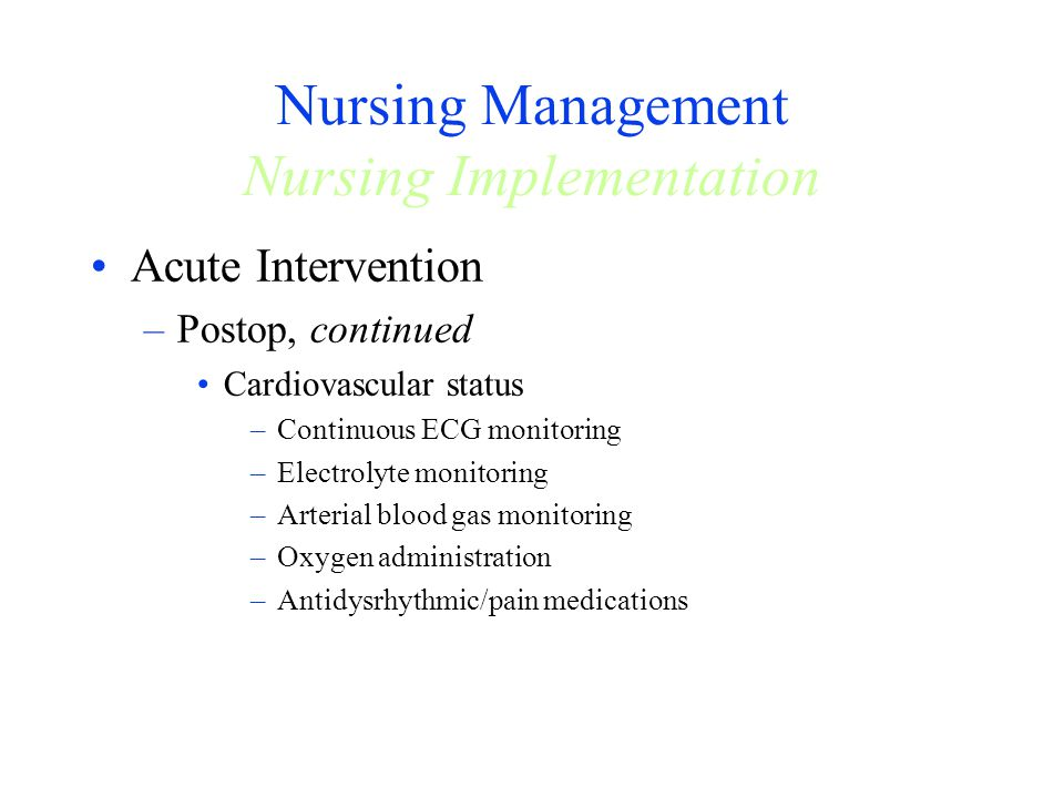 Nursing Management Nursing Implementation