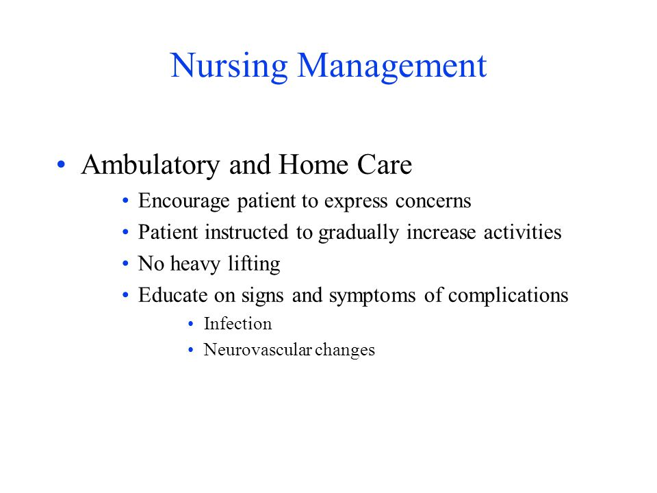 Nursing Management Ambulatory and Home Care
