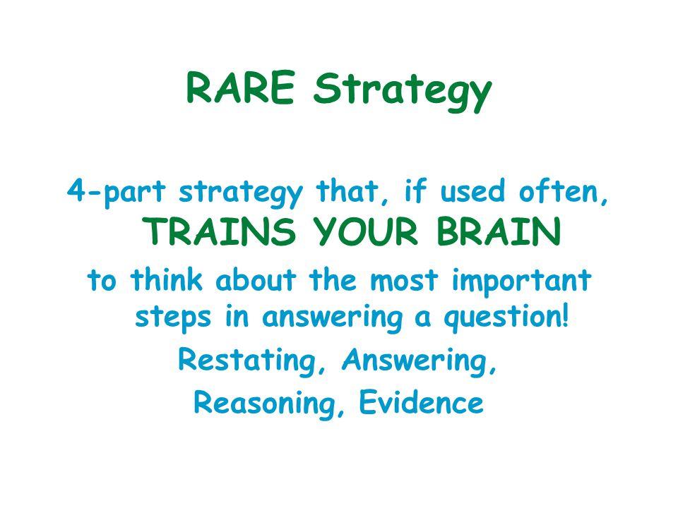 RARE Strategy