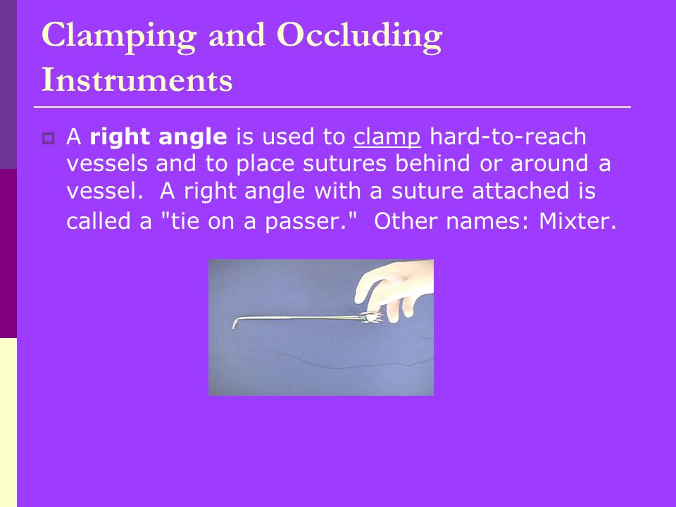 Clamping and Occluding Instruments