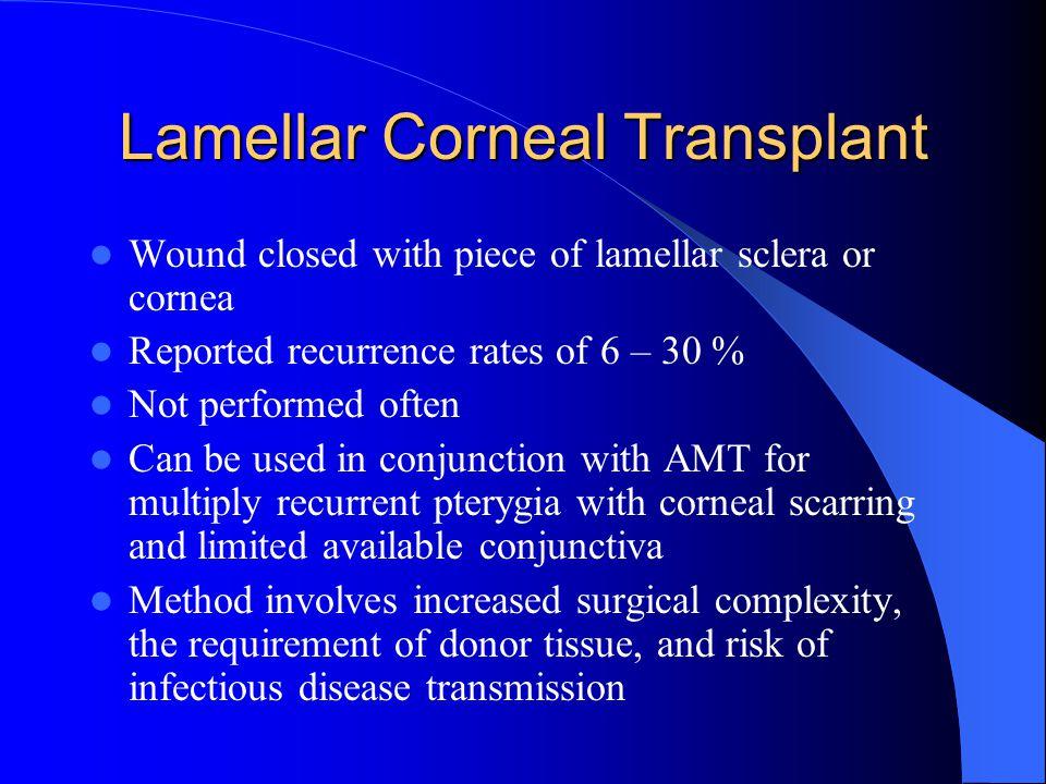 Lamellar Corneal Transplant