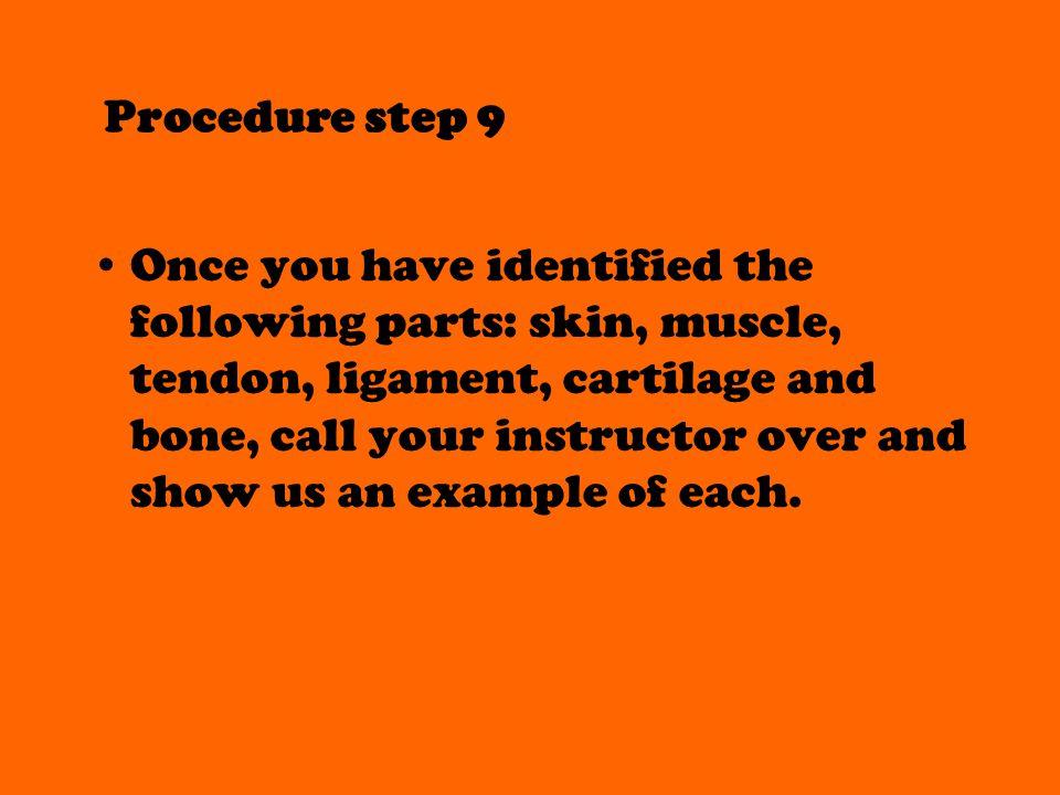 Procedure step 9