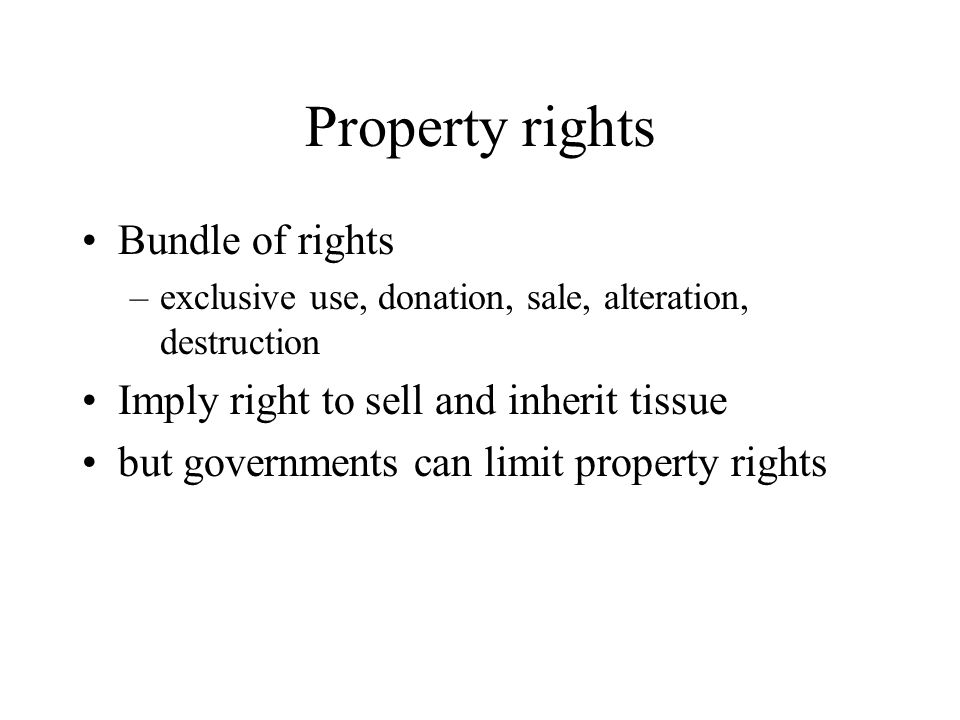 Property rights Bundle of rights