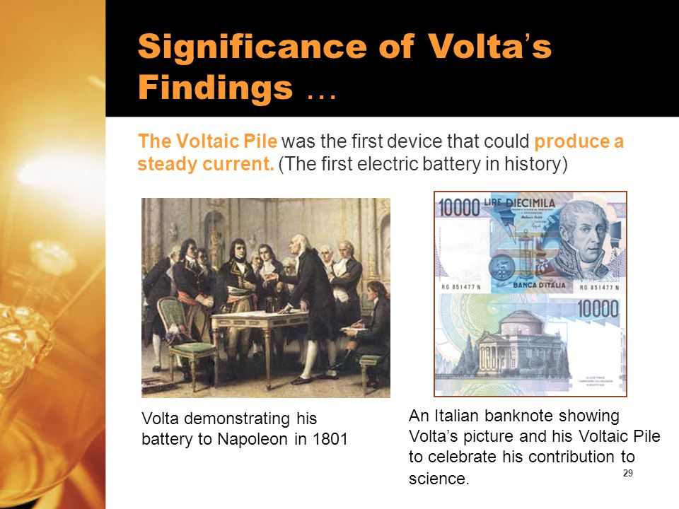 Significance of Volta's Findings …