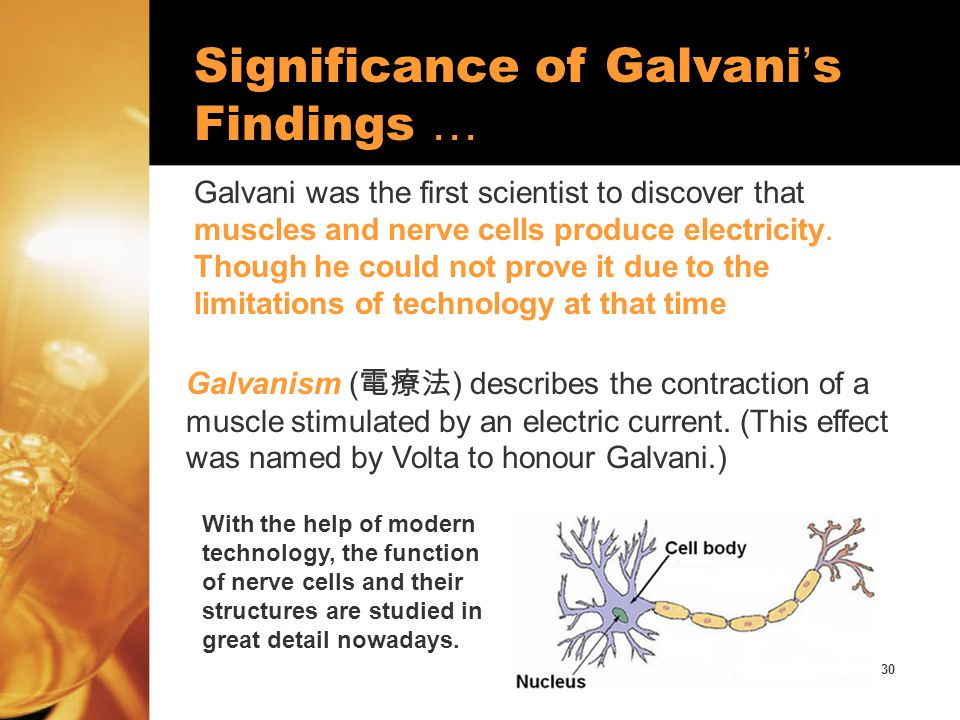 Significance of Galvani's Findings …