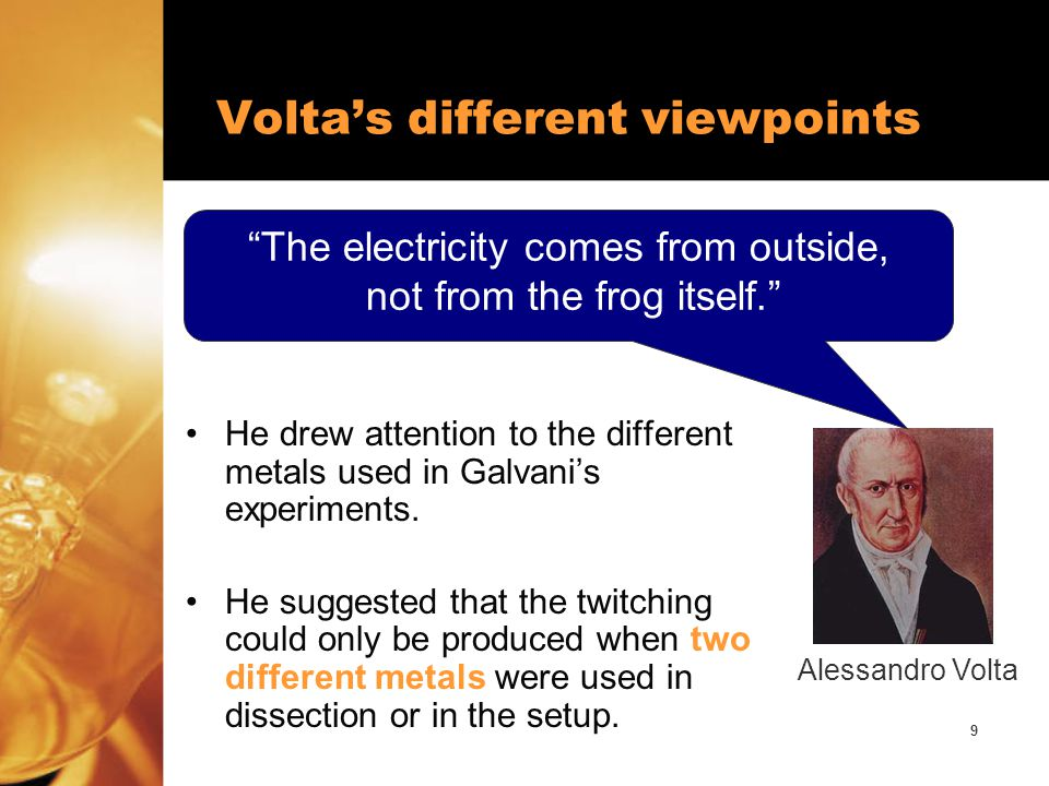 Volta's different viewpoints