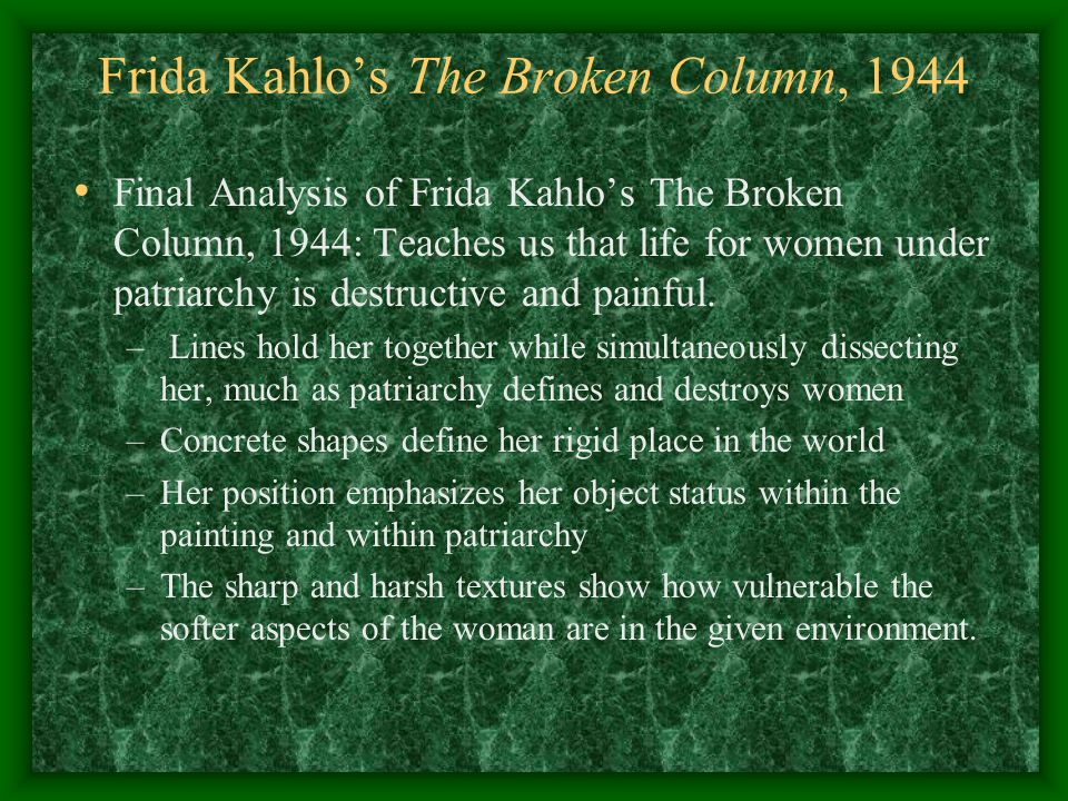 Frida Kahlo – The broken Column Essay