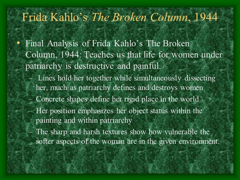the art of art frida kahlo�s the broken column ppt