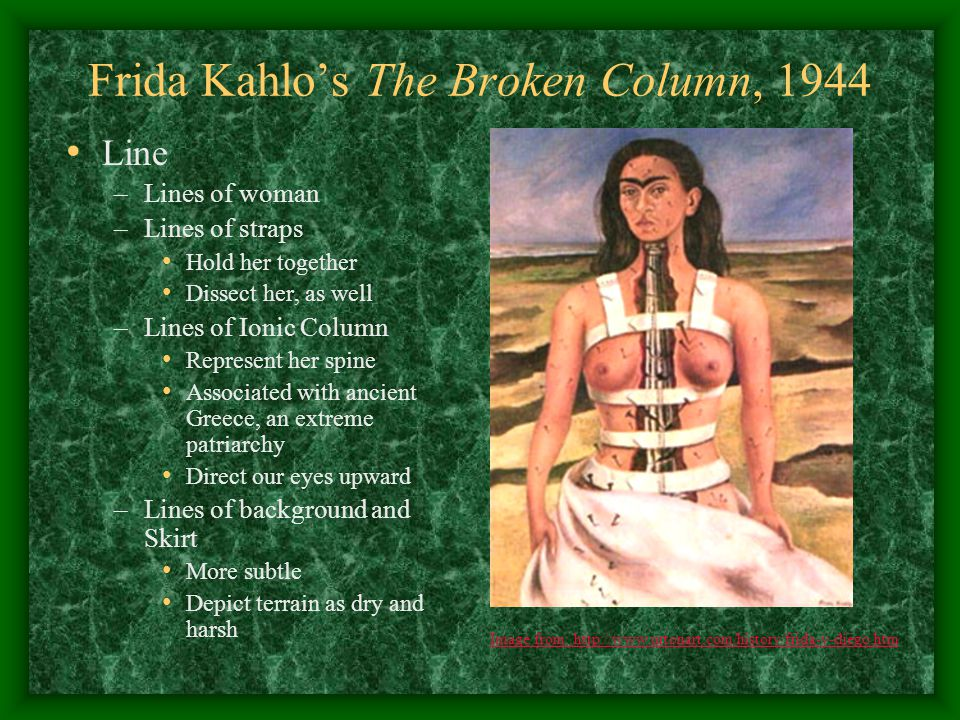 Frida Kahlo's The Broken Column, 1944