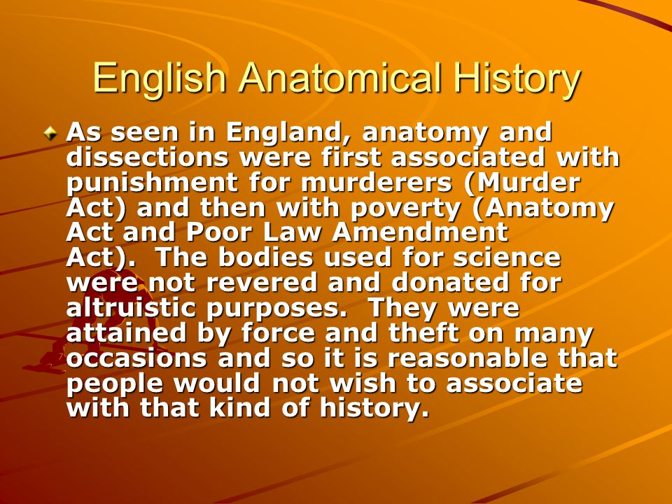 English Anatomical History