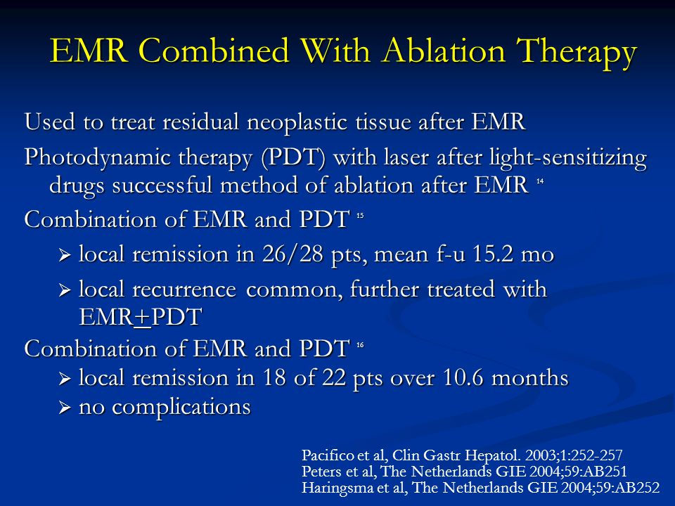 EMR Combined With Ablation Therapy