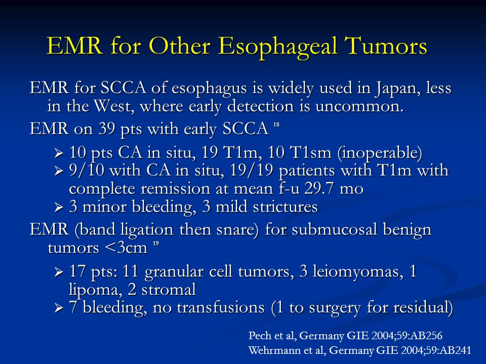 EMR for Other Esophageal Tumors
