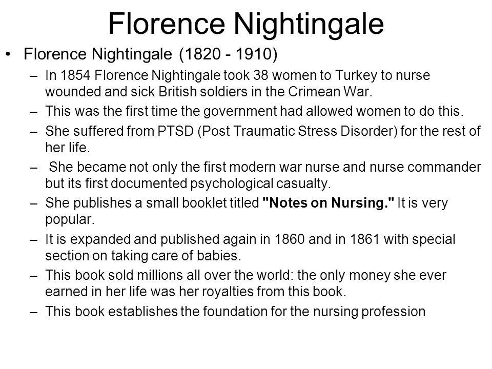 Florence Nightingale Florence Nightingale (1820 - 1910)