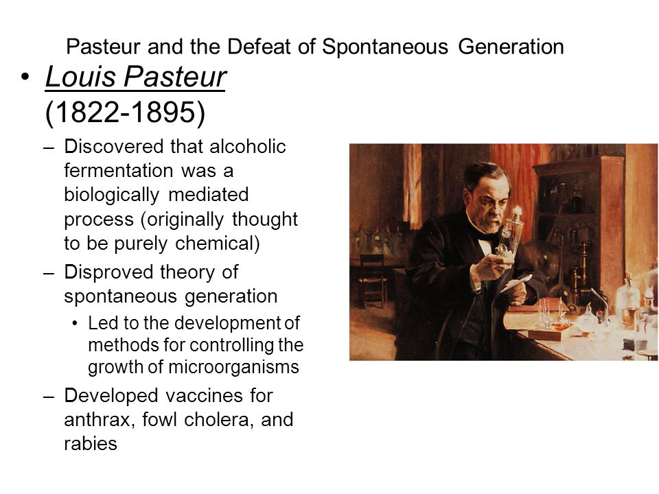 Pasteur and the Defeat of Spontaneous Generation