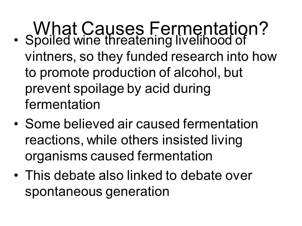 What Causes Fermentation