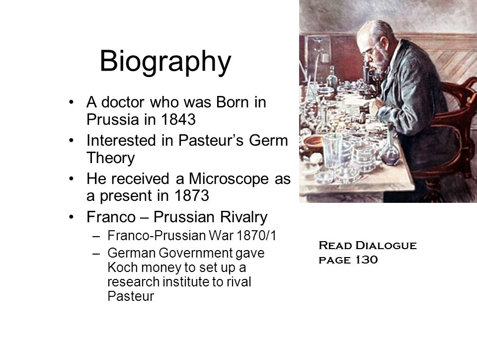 Biography A doctor who was Born in Prussia in 1843