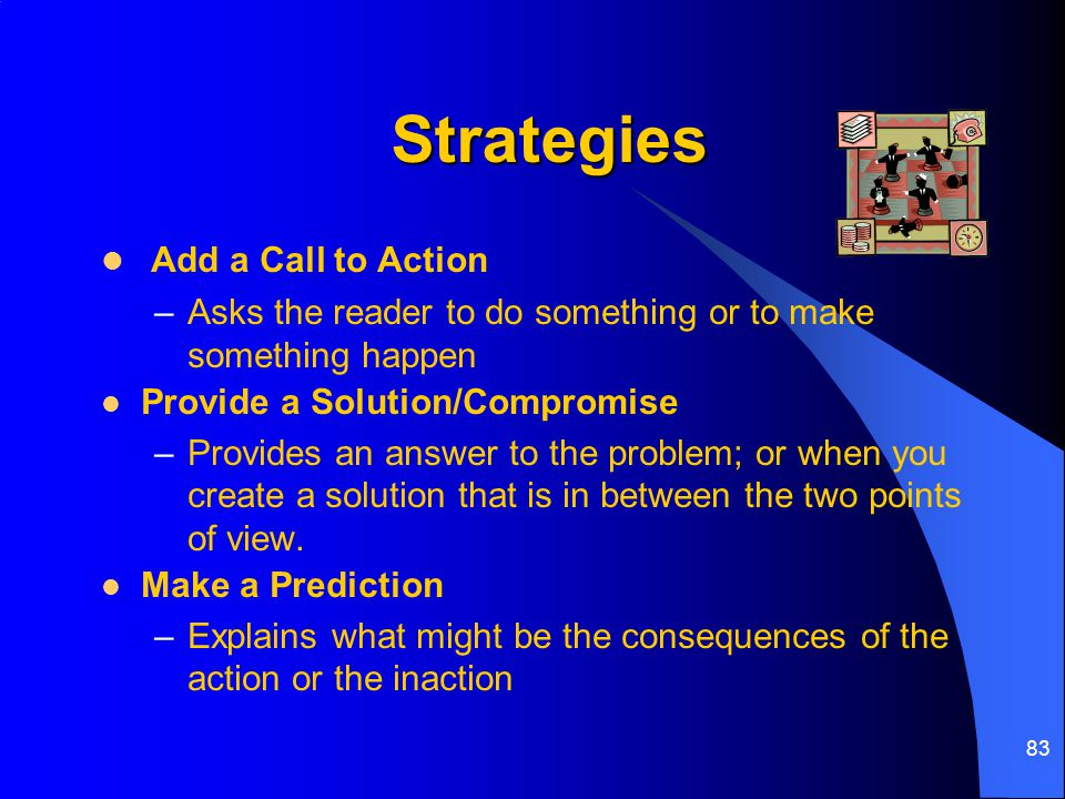Strategies Add a Call to Action