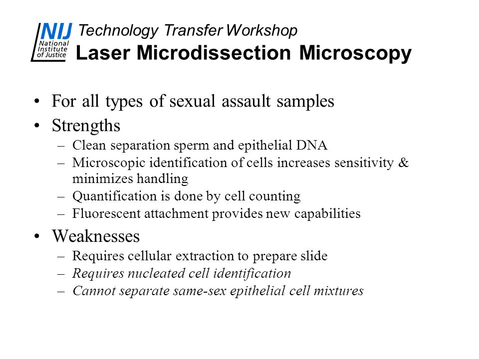 Laser Microdissection Microscopy