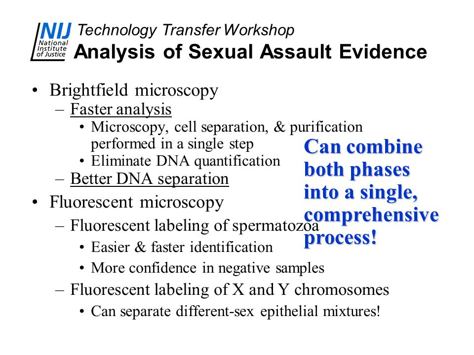 Analysis of Sexual Assault Evidence