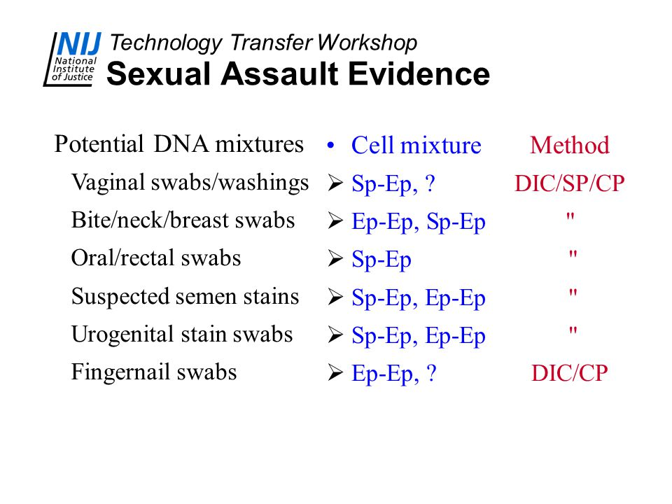 Sexual Assault Evidence