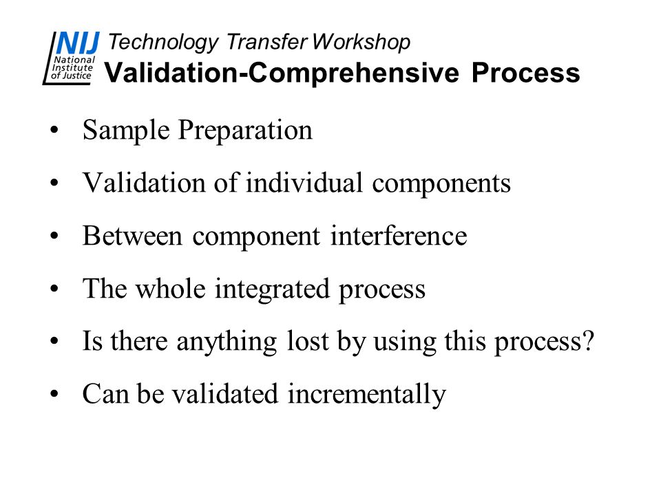 Validation-Comprehensive Process