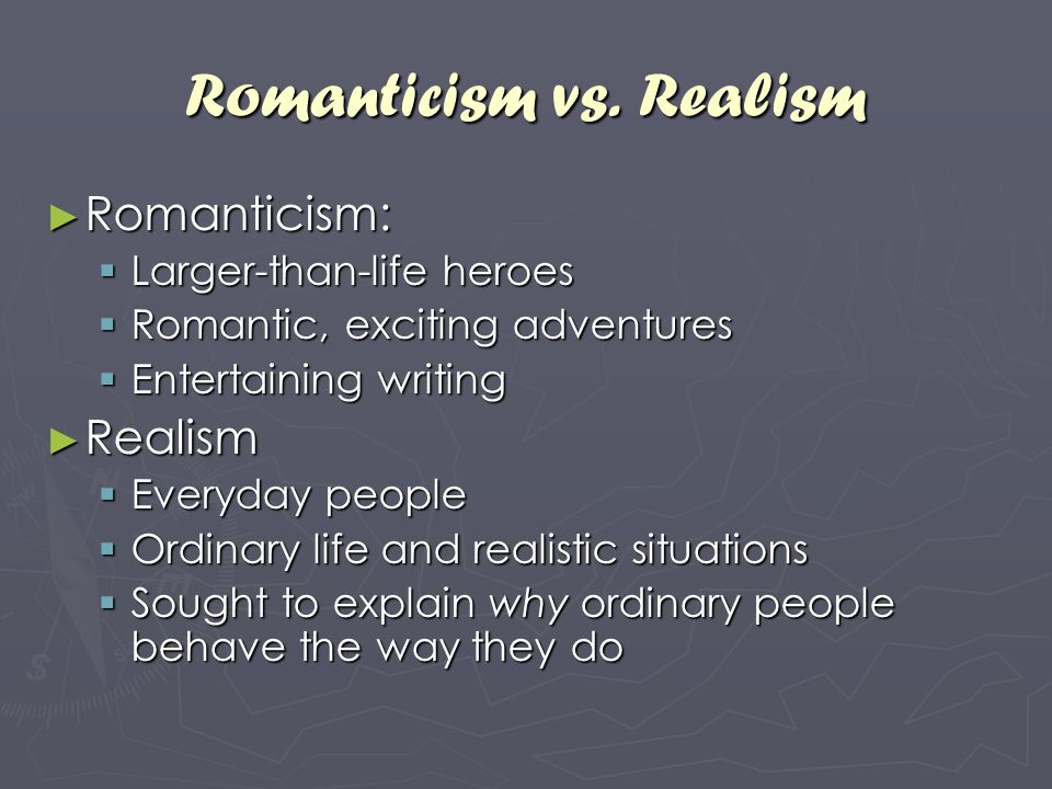 romantic vs realism essay College prep english iii transcendentalism essay transcendentalism notes winter dreams essay romanticism vs transcendentalism.
