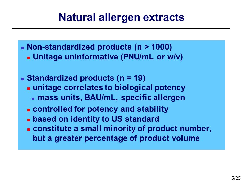 Natural allergen extracts