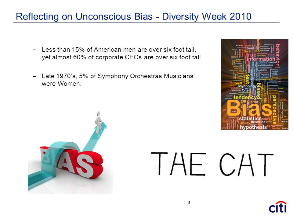 Reflecting on Unconscious Bias - Diversity Week 2010