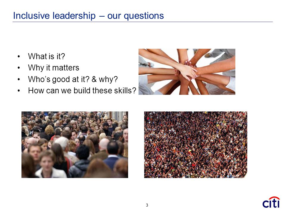 Inclusive leadership – our questions