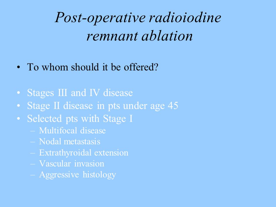 Post-operative radioiodine remnant ablation