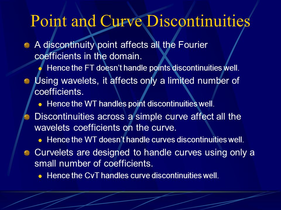 Point and Curve Discontinuities