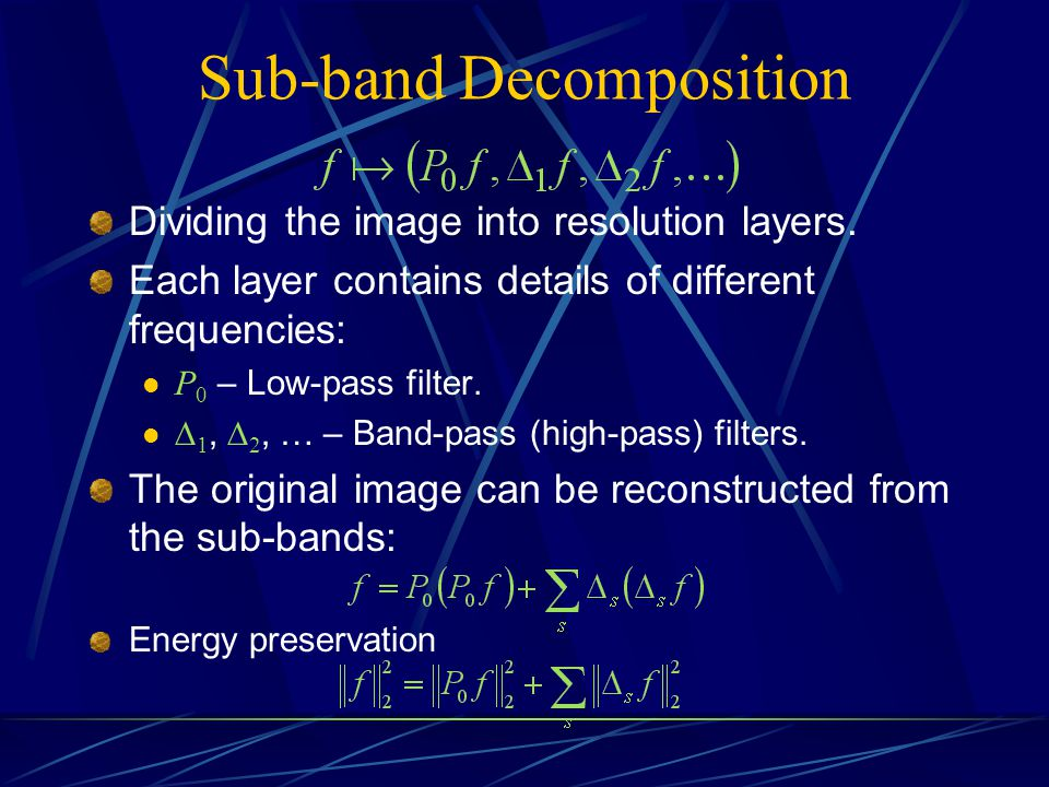 Sub-band Decomposition