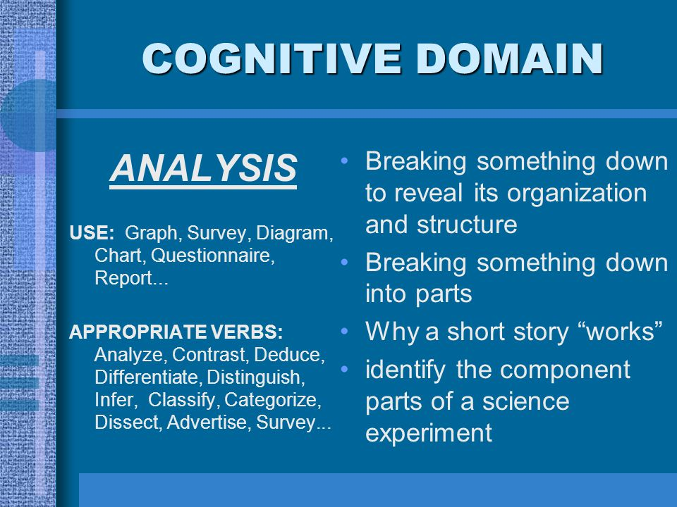 COGNITIVE DOMAIN ANALYSIS