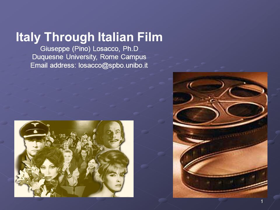 Italy Through Italian Film - Pino Losacoo