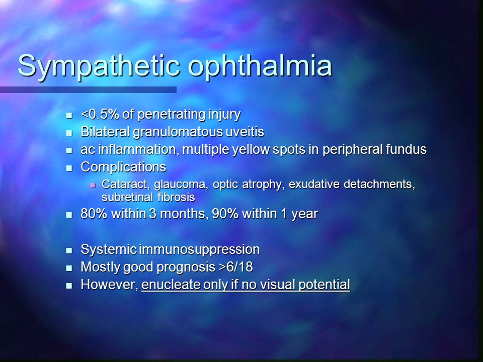 Sympathetic ophthalmia