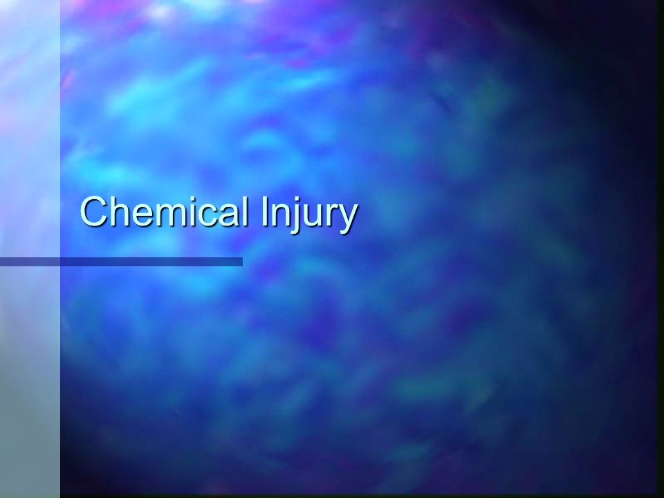 Chemical Injury
