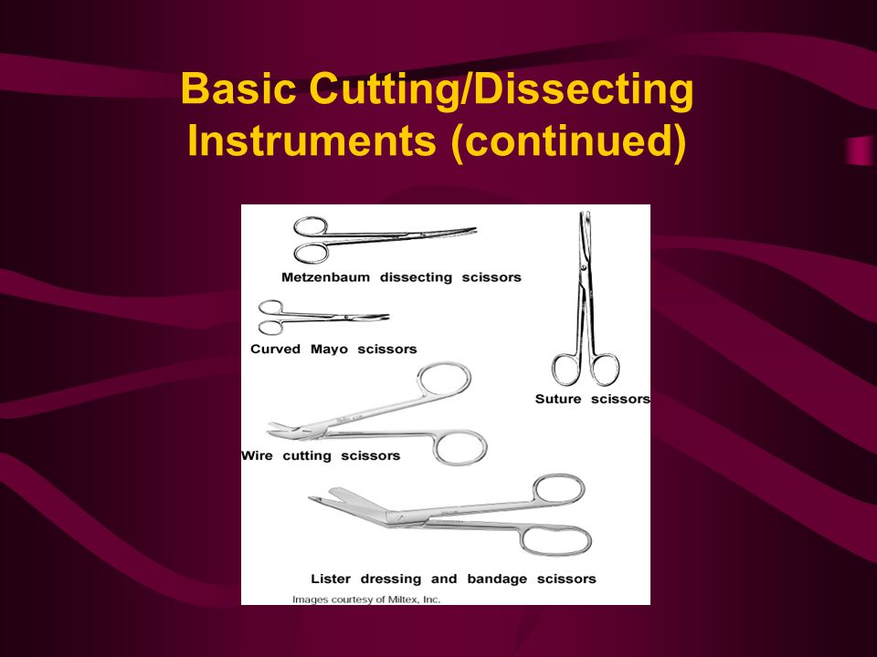 Basic Cutting/Dissecting Instruments (continued)