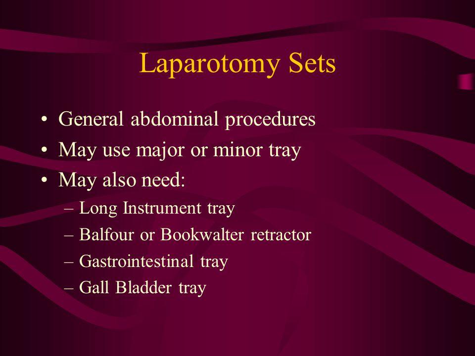 Laparotomy Sets General abdominal procedures