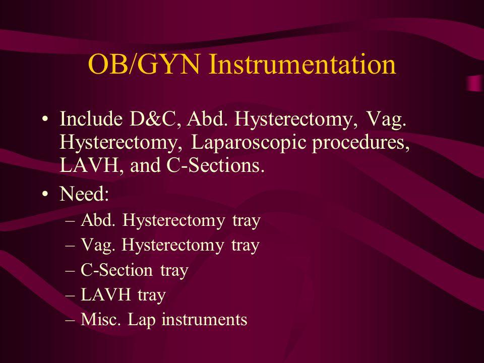 OB/GYN Instrumentation