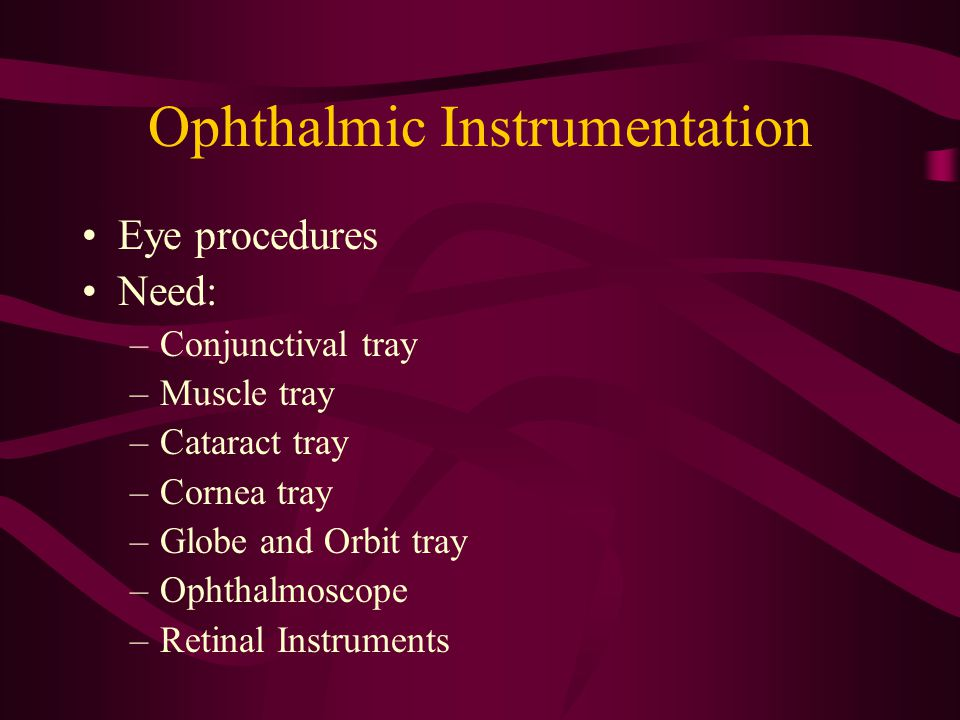 Ophthalmic Instrumentation
