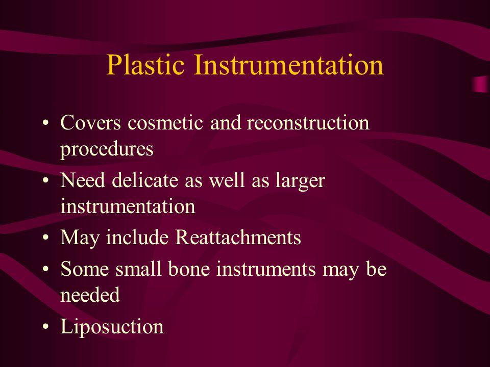 Plastic Instrumentation