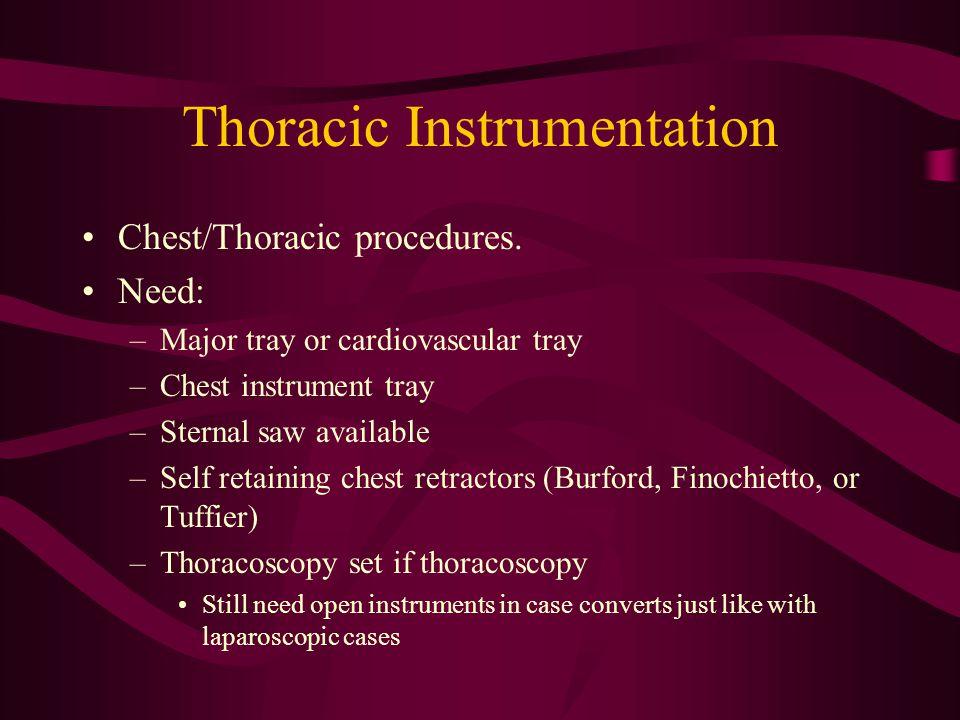 Thoracic Instrumentation