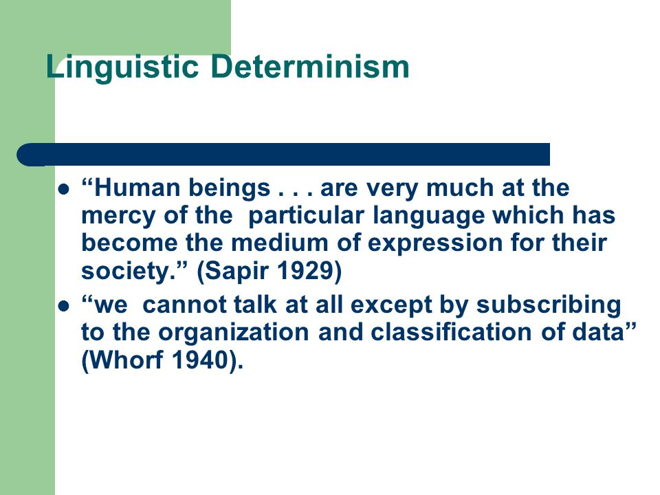 Linguistic Determinism