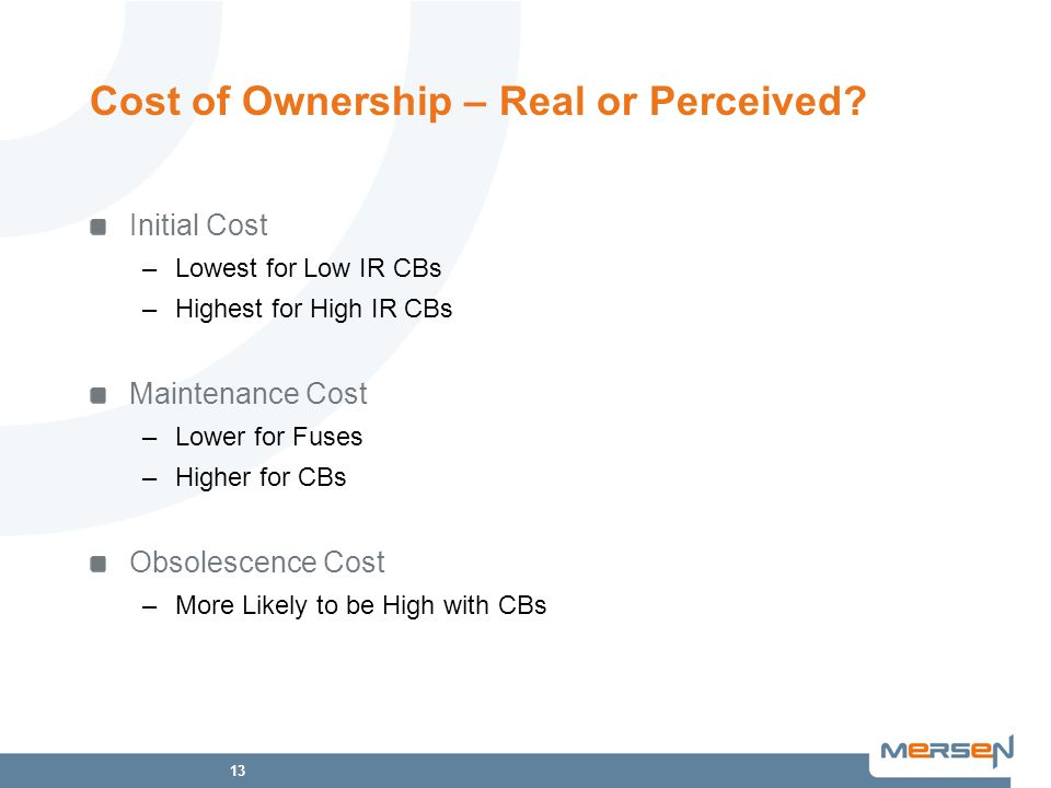 Cost of Ownership – Real or Perceived